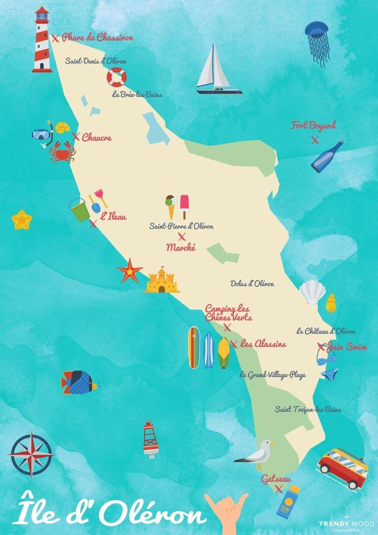 Carte de l'île d'Oléron - Activités et conseils de Carole