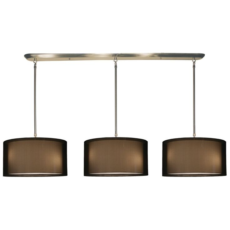 Z lite contemporary modern 9 light down lighting island billiard fixture with organza round shade from the nikko collection item