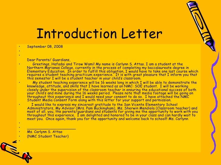Teachers letter of introduction peopledavidjoel teachers letter of introduction altavistaventures Gallery
