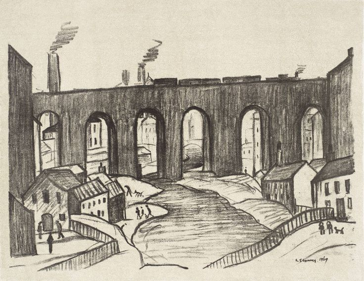 The Viaduct, Stockport  Date  1969-72  Medium  Lithograph on paper