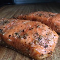 Serves: 4 Time: 1 hour (30 m prep, 30 min cook) Ingredients: (Ingredients and measurements subject to availability) Salmon: - 4 salmon filets (6-8 oz each) - 1 tablespoon extra virgin olive oil* - Sea