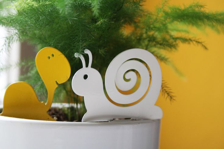 """Turtle & Snail"", yellow and white 