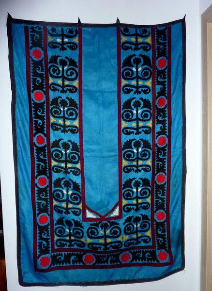 Suzani Wandbehang blau, Handbestickt, von SALOME  auf DaWanda.com