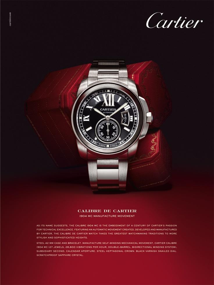Calibre de Cartier Advertising.