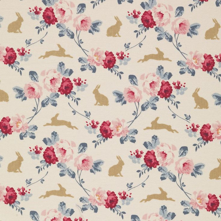 Tilda Memory Lane - Rabbit & Roses Slate £4 http://www.thehomemakery.co.uk/new-in/tilda-memory-lane-rabbit-roses-slate