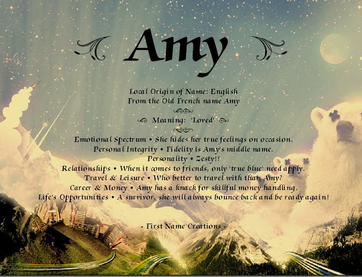 Amy Name Meaning - First Name Creations