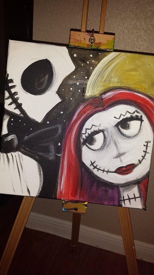 Jack & Sally  A Nightmare Before Christmas  by PaintingsbyChelsi