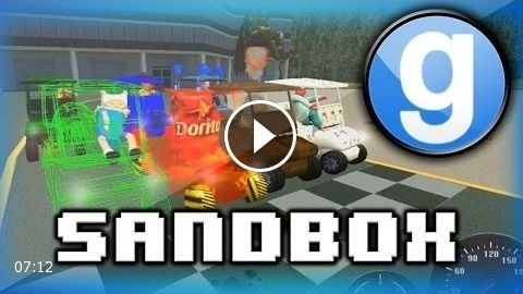 Garry's Mod Sandbox Funny Moments 5 – WILDCAT's Cooking Show, and Golf Cart Race Fun!