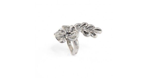 Inel Statement din argint - Floare de Azalee