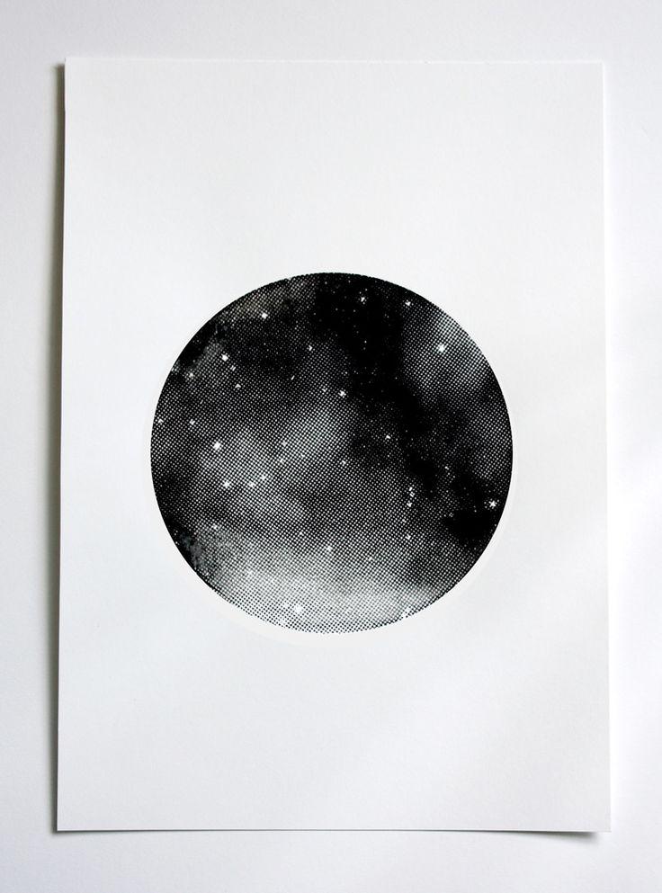BLACK PLANET screen print by Hey Jo! Design