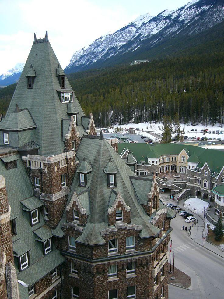 View from the Banff Springs Hotel in Banff, Alberta, Canada