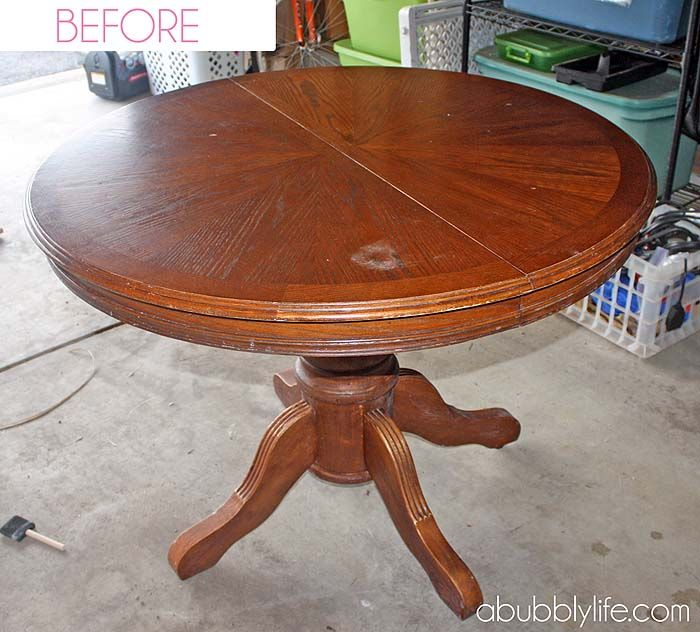 A Bubbly Life: How to Paint a Dining Room Table & Chairs! Makeover Reveal!
