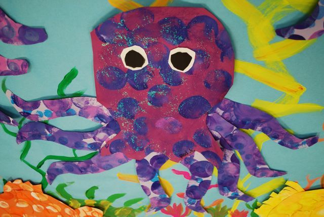 Octopus | Flickr - Photo Sharing (Painted Paper site) 2 nd grade collage