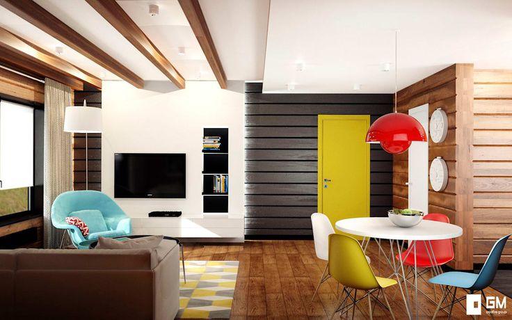 Projekty,  Salon zaprojektowane przez GM-interior
