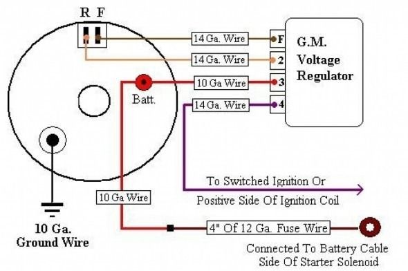 Gm 1 Wire Alternator Diagram Voltage Regulator Alternator Electrical Circuit Diagram