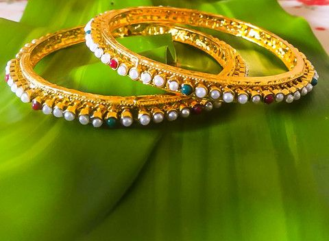 BuyKundan Moti Bangle Kada on Bonyhub.com