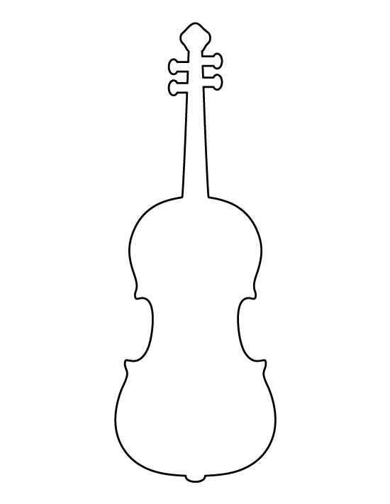 Violin pattern use the printable outline for crafts for Cello coloring page