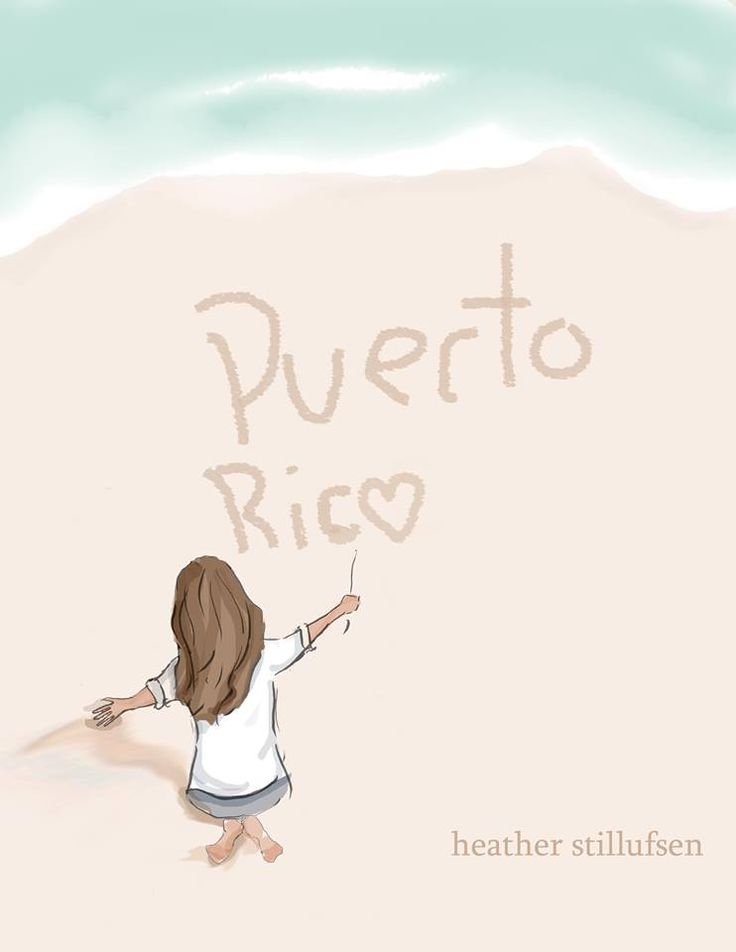 """Sending love and strength to those in Puerto Rico,"" Heather Stillufsen. For prints visit http://www.rosehilldesignstudio.etsy.com/"