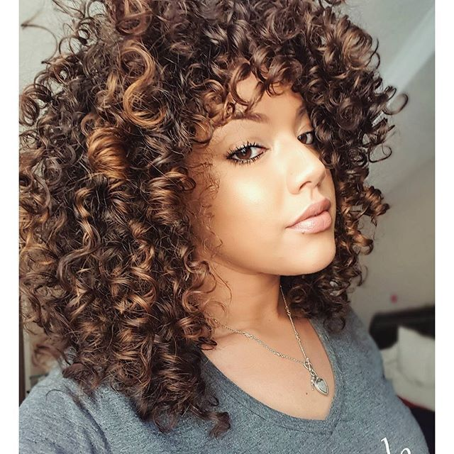 Pin By Gina Martinez On Curls Hair Highlights Highlights Curly Hair Colored Curly Hair