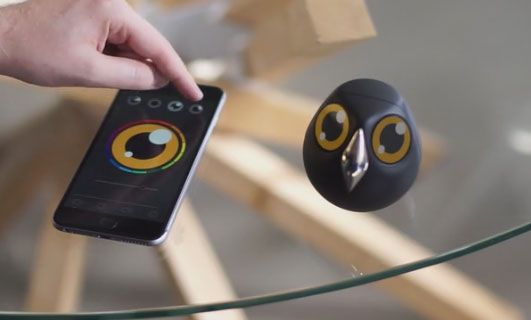 "Meet Ulo: a cute security camera that lets you keep an eye on your home. It interacts with you through eye expressions. The device has 2 x 1.22"" displays,"