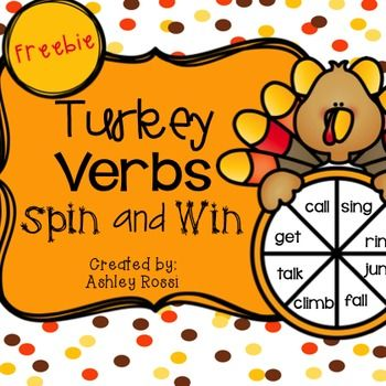 Need a fun way to work on past tense verbs in your Thanksgiving activities in Speech Therapy?{3 usable pages} all black/white for print and go!More Turkey Verbs Spin and Win in my No-Prep Autumn LanguageAlso see:Articulation: TH Football Frenzy GameSynonyms: Build-a-Turkey GameSee what I'm sharing on my Sweet Southern Speech blog!Follow me on Facebook and Instagram for sales, promotions and freebies!!created by: Ashley RossiSpeech Therapy | No Prep | Holiday | Fall | Language | Expressive…