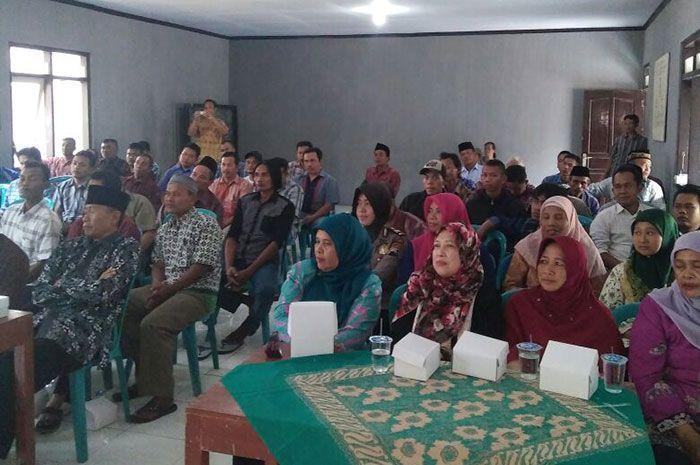 Kapolsek Bandongan sampaikan himbauan Kamtibmas dalam sosialisasi Pencoblosan Kades Salam Kanci