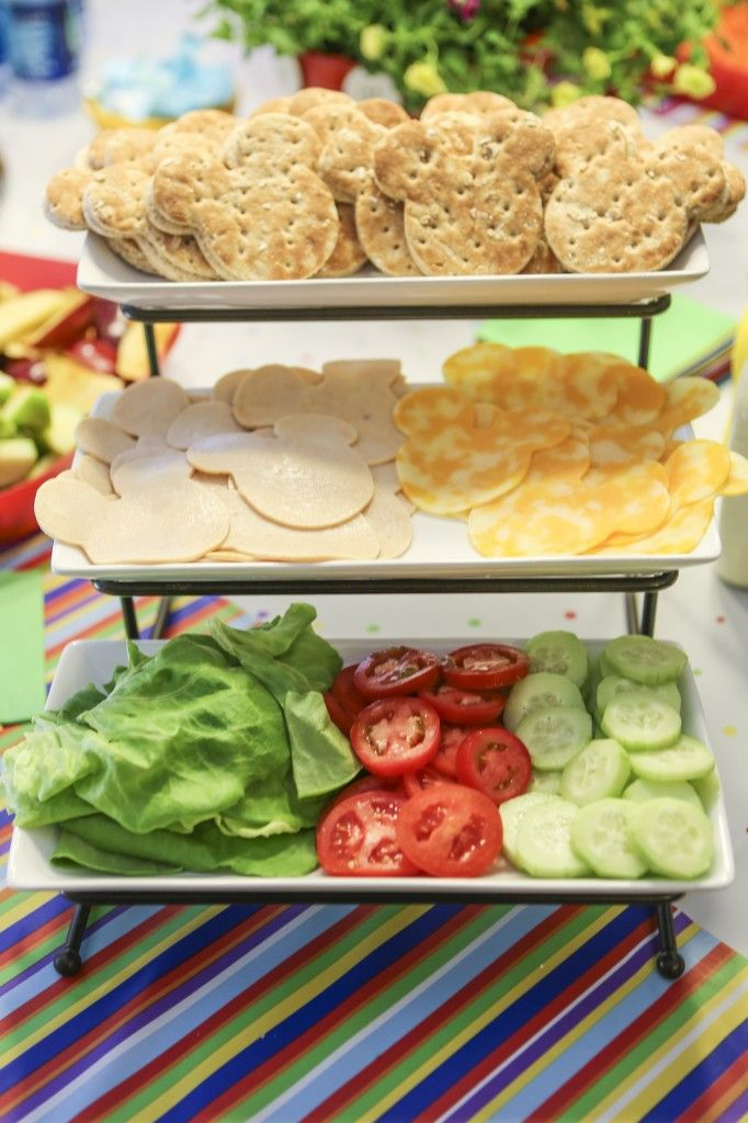 Mickey sandwiches - Disney baby shower food