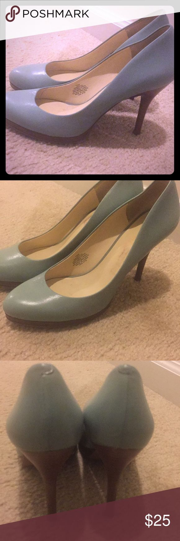 Nine West pump green size 10 for work or play Nine West pump green size 10 for work or play super comfortable can be worn with jeans, dress pants, skirts and dresses! Nine West Shoes Heels