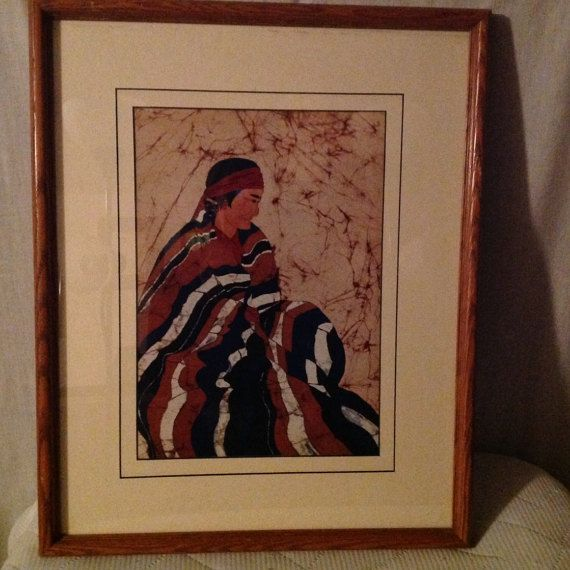 D. Smith fine art batik print Native by LimitedEditionStudio