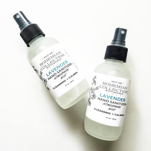 Organic Lavender Hand Sanitizer Atmosphere Mist And Linen Spray