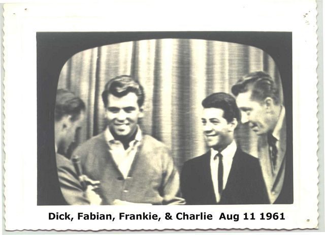 Fabian, Frankie & Charlie with Dick. Loved watching American Bandstand.