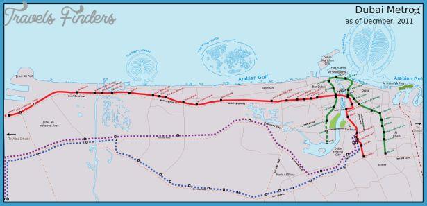 Dubai Metro Map - http://travelsfinders.com/dubai-metro-map.html