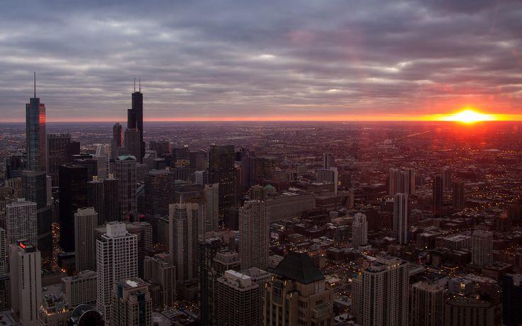 chicago srnsets | Chicago sunrise wallpaper | 1920x1200 | #21233
