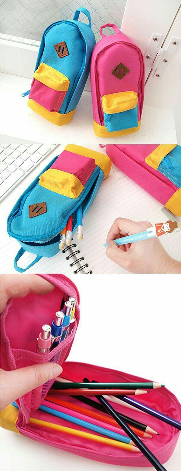 Bu aralar bu çantalar çok popüler ama  daha     Önce kalemligi görmemiştim