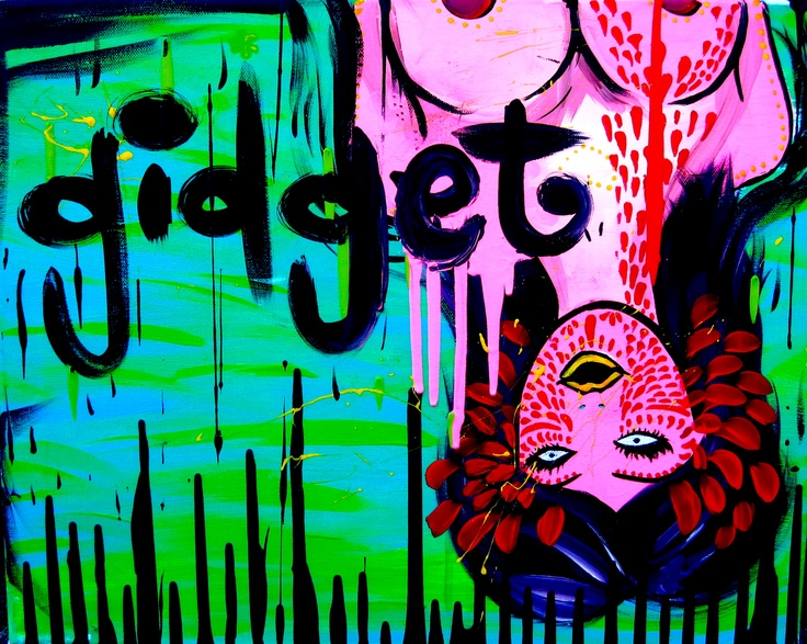 MY ART! ART BY gidget.  Contact gidgetsgarage@gmail to purchase prints or custom pieces.