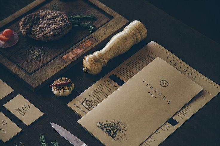 Veranda restaurant visual identity on Behance