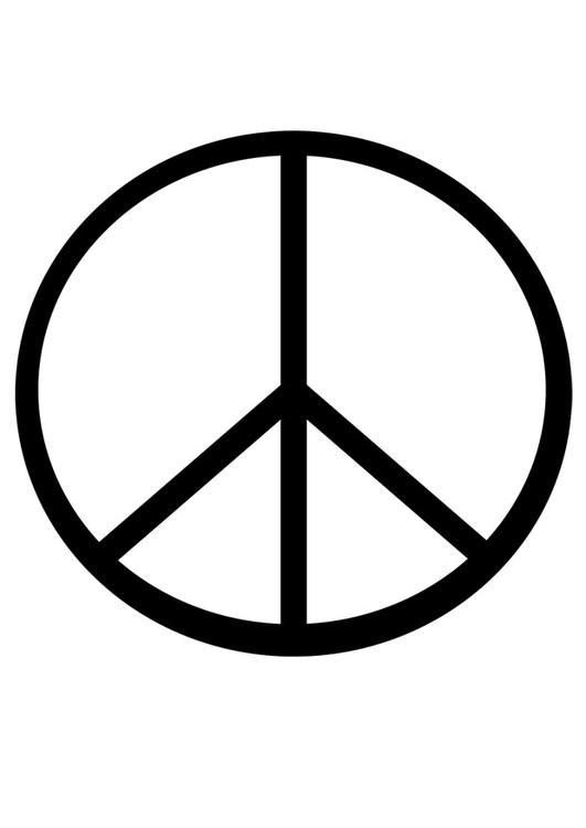 peace sign coloring page 1 531x750