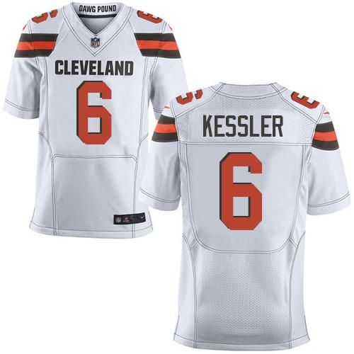 Nike Browns #6 Cody Kessler White Men's Stitched NFL New Elite Jersey