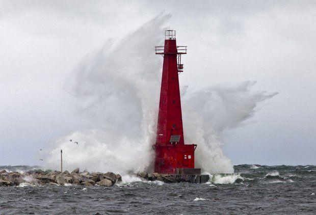 Lighthouse on Lake Michigan.JPG