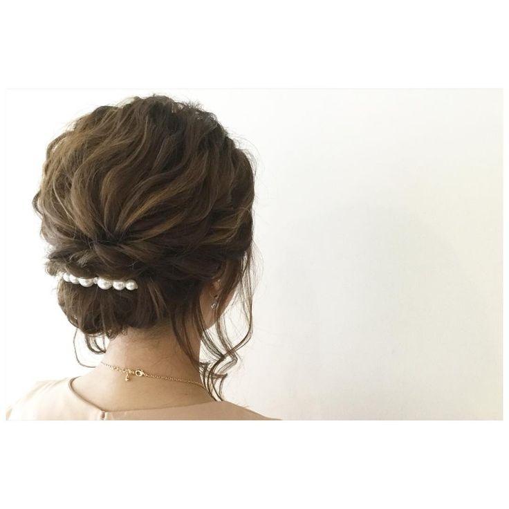 tatsuya kitagawaさんはInstagramを利用しています:「today's hair style☆ 後れ毛が可愛いウェーブギブソンタック☆ ミディアム丈のゆるめウェーブでシンプルまとめ! . #ヘアセット #ヘアアレンジ #ヘアカタログ #アップスタイル #ギブソンタック #シニヨン #ウェーブ #ヘアアクセサリー #シンプル #ボブ #ハイライト #結婚式 #ルーズ #フェミニン #波ウェーブ #ウェーズ #パーティー #二次会 #ファッション #メイク #ありがとう #カメラ越しの私の世界 #京都駅前 #美容室 #t2style #love #beauty #courarir #courarirkyotoekimae #kyoto」