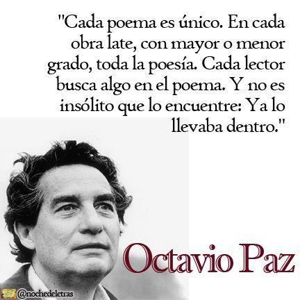 OCTAVIO PAZ-ESCRITOR MEXICANO -PREMIO NOBEL D LITERATURA #frases