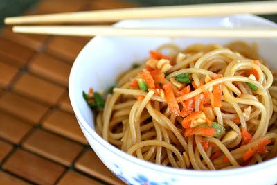 Meal Planning 101: Pinterest Recipes: Spicy Sesame Noodles