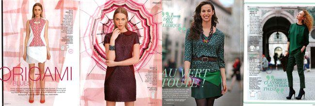 Quelques pages de Couture facile Burda, Automne Hiver 2013