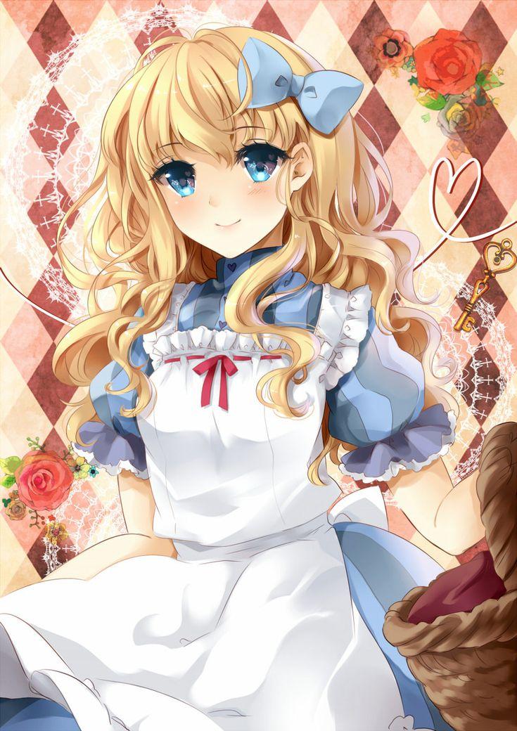 ANIME ART Alice in Wonderland. . .Alice. . .apron. . .hair