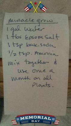 Gardening - Homemade Miracle Grow