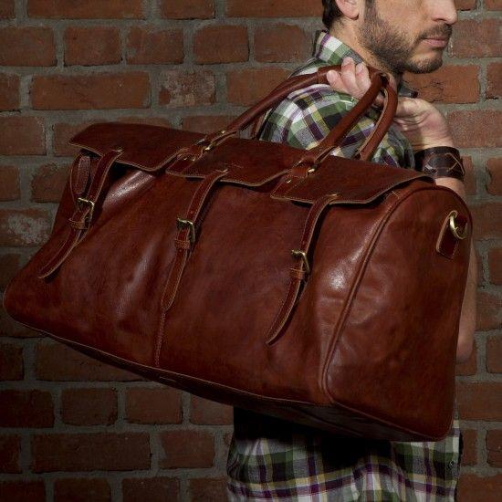Scotch & Vain Reisetasche PHOENIX - Leder Weekender hellbraun-cognac Taschen Herren Sporttaschen