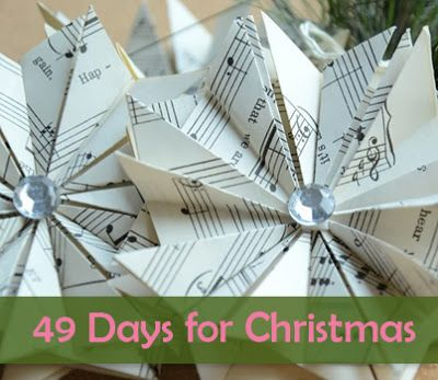 Christmas Countdown: 49 Days ~ How to Make a Book Page Star Ornament ~ MISI - Handmade in the UK