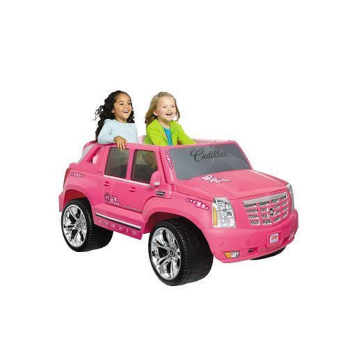 Barbie Power Wheels Truck Car Kids Toy Pink Cadillac Hybrid Escalade EXT Ride On #BarbiePowerWheels