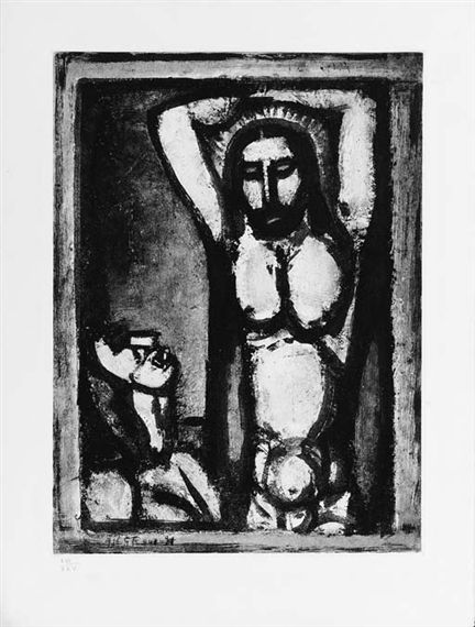 My favorite print by Georges Rouault - [Christ aux Outrages], Plate 2,... on MutualArt.com