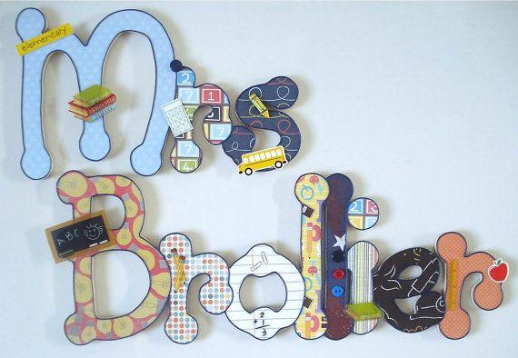 Bei nomi in legno per bambini 10 lettere